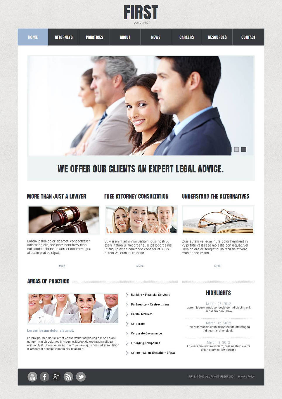 Law Firm Moto CMS HTML Template New Screenshots BIG