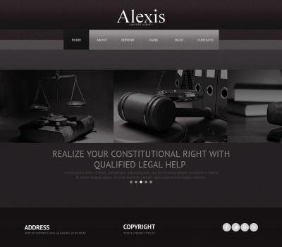 Modèle Moto CMS HTML  pour cabinet d'avocat