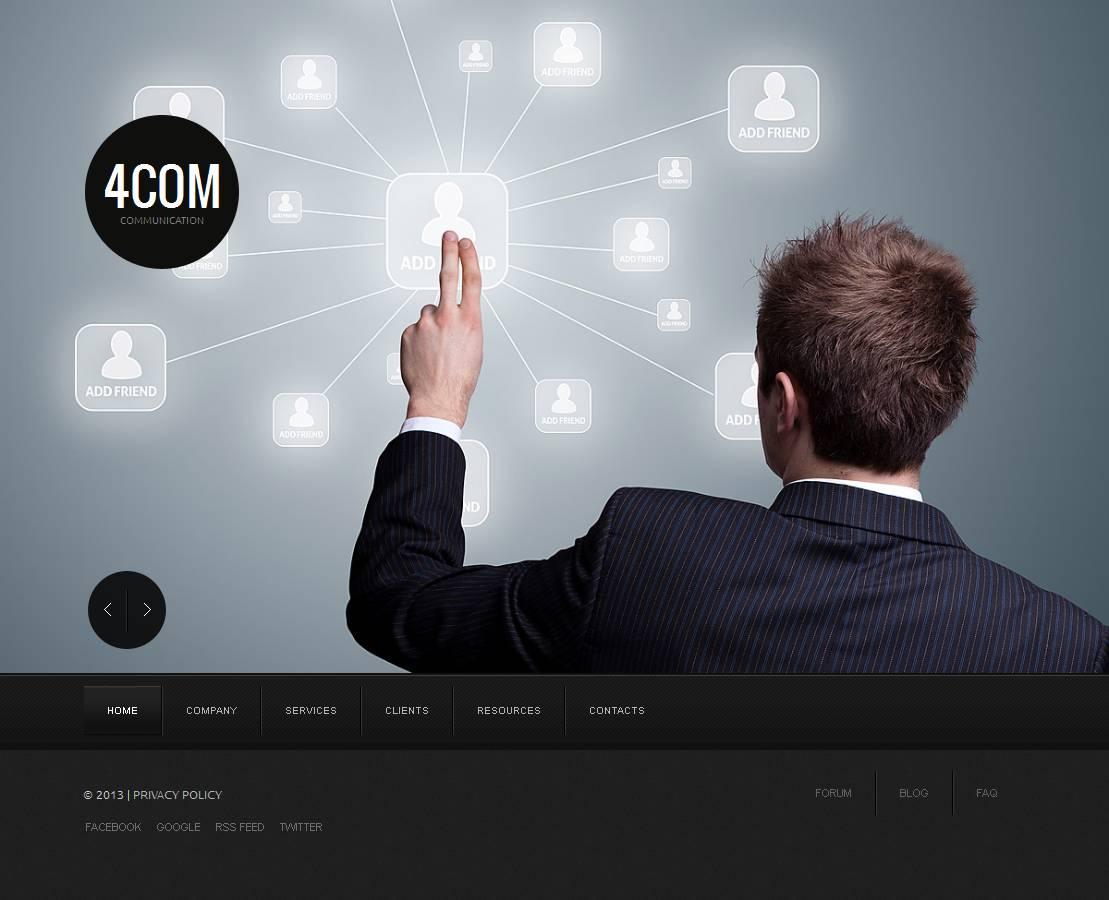 Modèle Moto CMS HTML Premium pour site de communications #43933