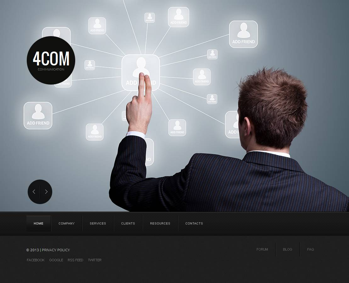 MotoCMS HTML шаблон №43933 на тему коммуникации
