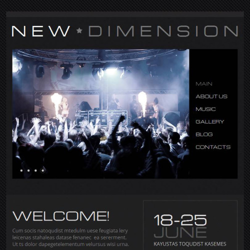 New Dimension - Facebook HTML CMS Template