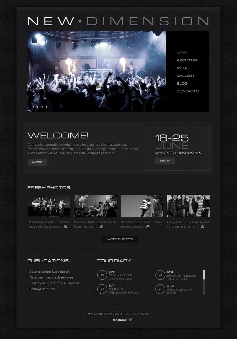 Music Band Moto CMS HTML Template New Screenshots BIG