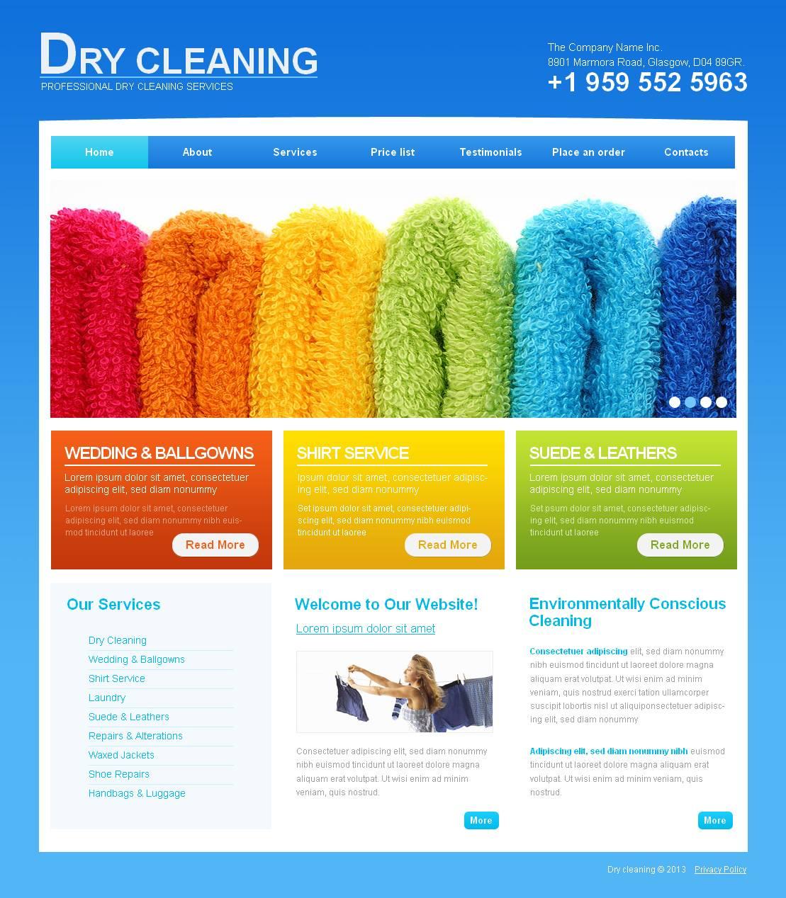 Plantilla Moto CMS HTML #43934 para Sitio de Servicios de limpieza - captura de pantalla