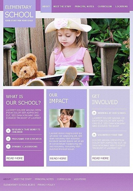 Primary School Facebook HTML CMS Template Facebook Screenshot