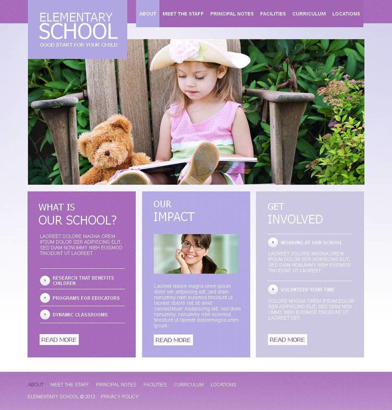 Primary School Moto CMS HTML Template New Screenshots BIG