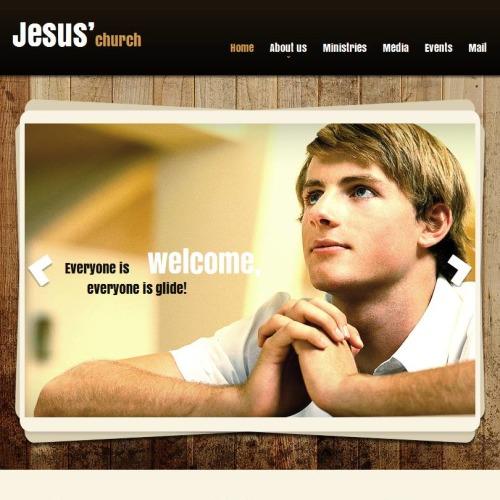 Jesus - Facebook HTML CMS Template