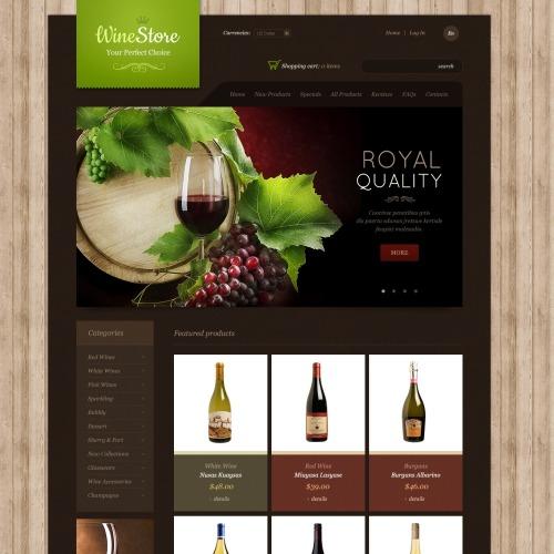 Wine Store - ZenCart Template