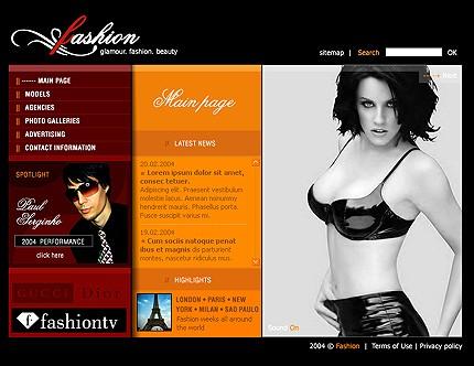 Шаблон сайта на Flash (4475)