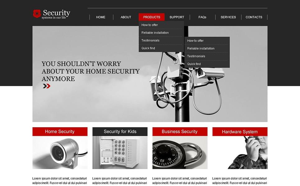 Modèle Web adaptatif  pour site de sécurité New Screenshots BIG