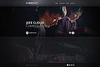 Music Website  Template 44003