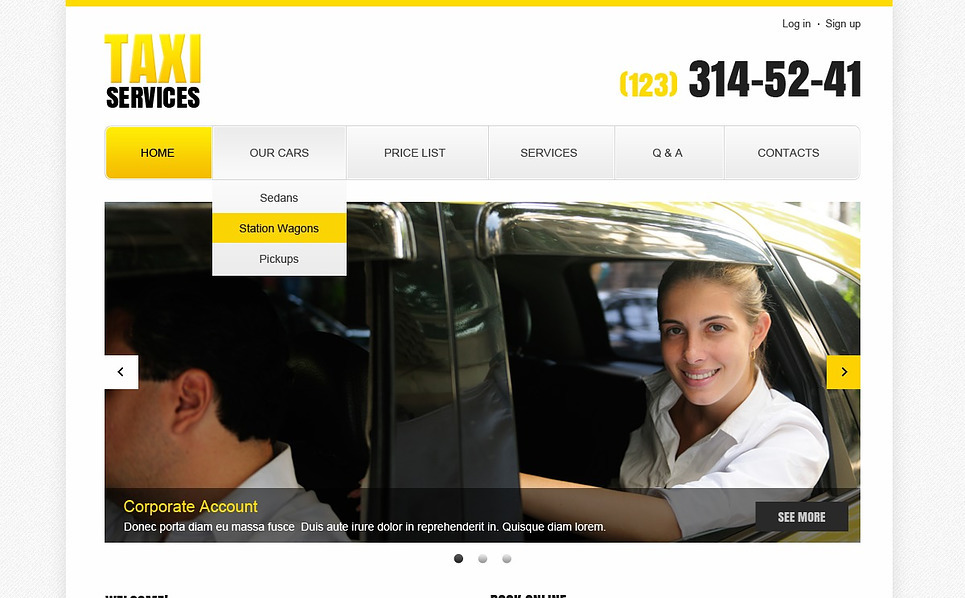 Modèle Web adaptatif  pour site de taxi New Screenshots BIG