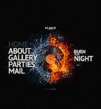 Night Club Website  Template 44009