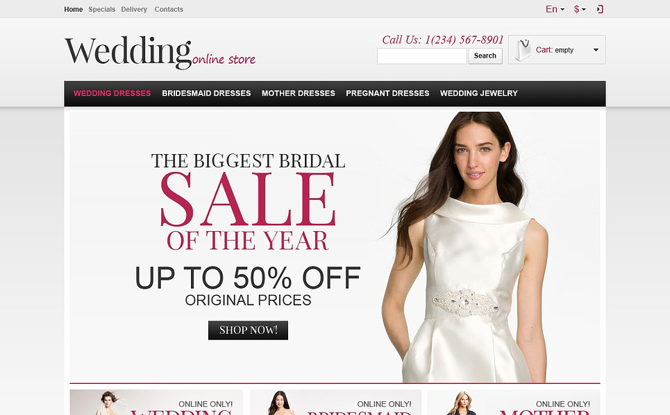 Responsive PrestaShop Thema over Bruidskleding  New Screenshots BIG