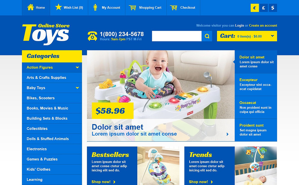 OpenCart šablona Obchod s hračkami New Screenshots BIG