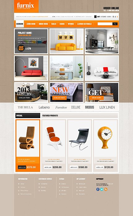 ADOBE Photoshop Template 44024 Home Page Screenshot