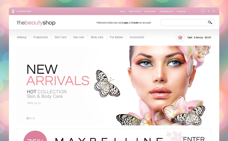 OpenCart Template over Cosmeticawinkel New Screenshots BIG