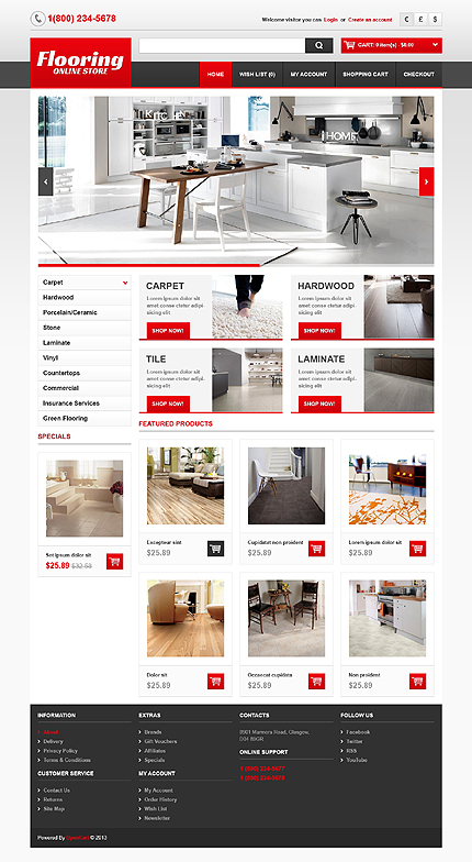 ADOBE Photoshop Template 44052 Home Page Screenshot