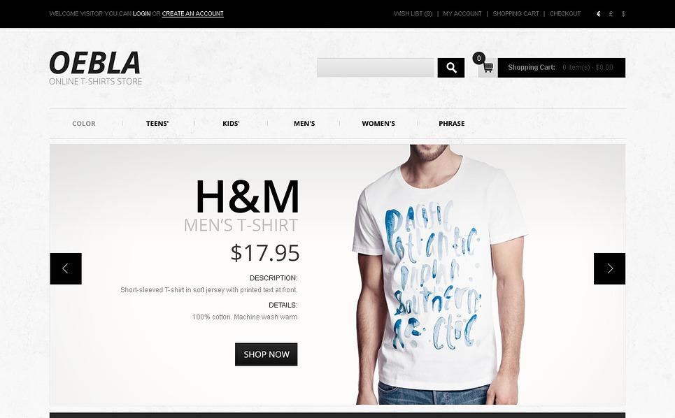 Thème OpenCart  pour magasin de T-shirts New Screenshots BIG