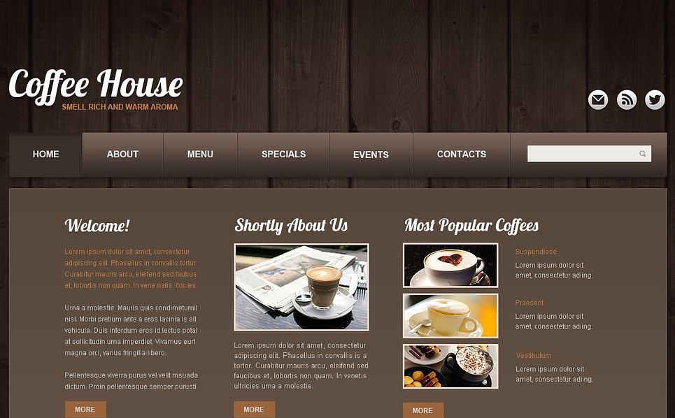 Modello Siti Web Bootstrap #44060 per Un Sito di Caffetteria New Screenshots BIG