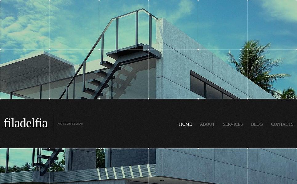 Template Siti Web Bootstrap #44062 per Un Sito di Architettura New Screenshots BIG