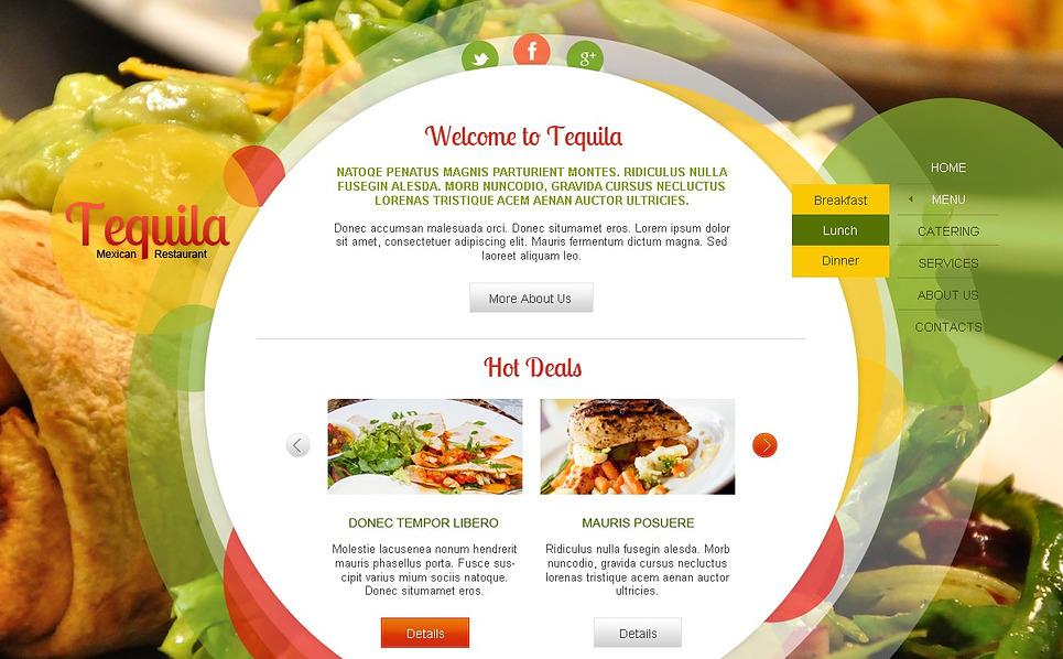Bootstrap Šablona webových stránek na téma Kavárny a Restaurace New Screenshots BIG