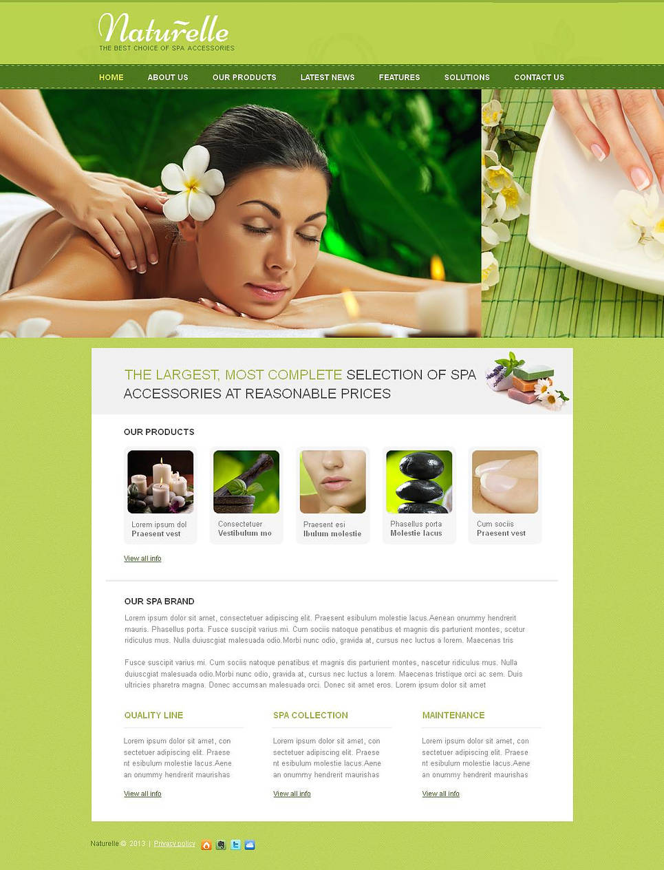 Spa Accessories Website Template Done in Eco Style - image