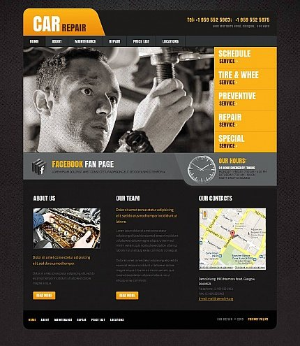 ADOBE Photoshop Template 44072 Home Page Screenshot