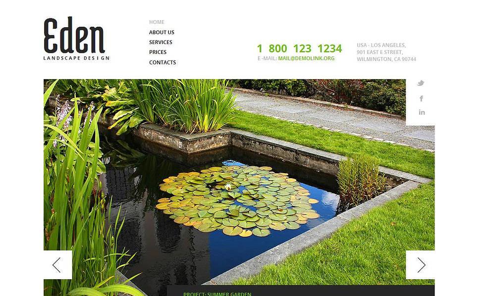 MotoCMS HTML шаблон на тему дизайн саду New Screenshots BIG