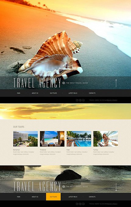 ADOBE Photoshop Template 44076 Home Page Screenshot