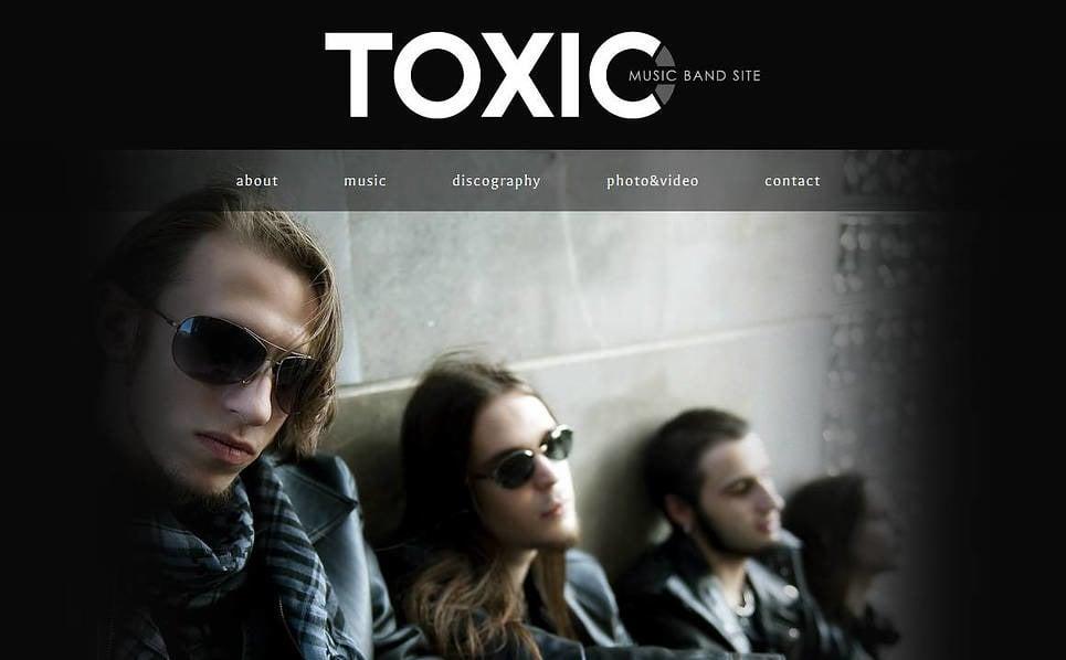 MotoCMS HTML шаблон на тему музична група New Screenshots BIG