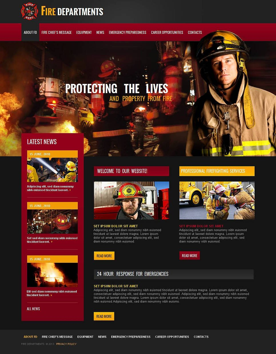 Firehouse Website Template - image