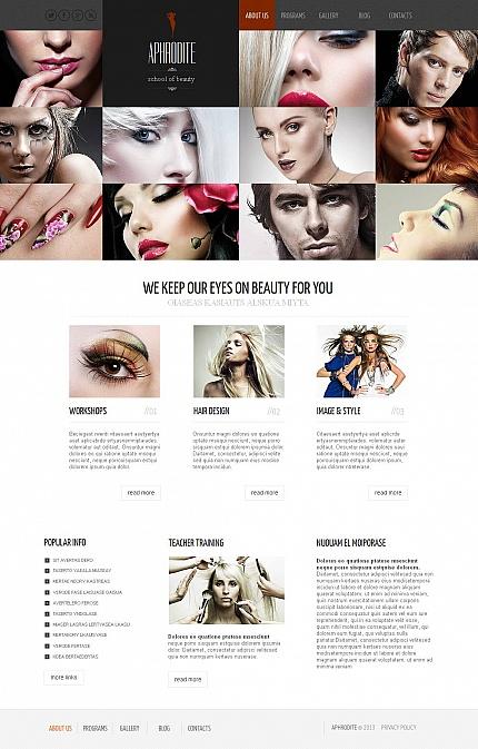 ADOBE Photoshop Template 44081 Home Page Screenshot