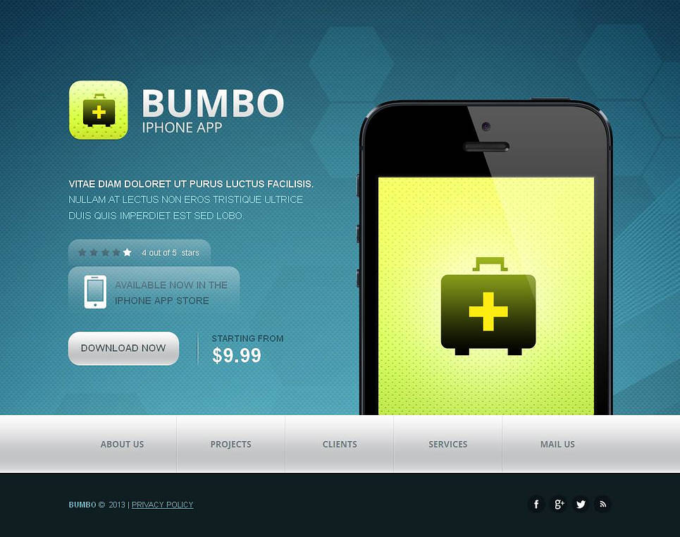 Website Template to Promote a Mobile Application - image