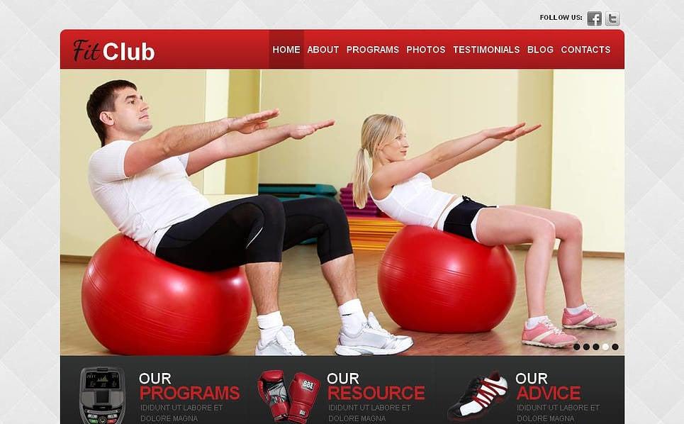 Moto CMS HTML Vorlage für Fitness  New Screenshots BIG