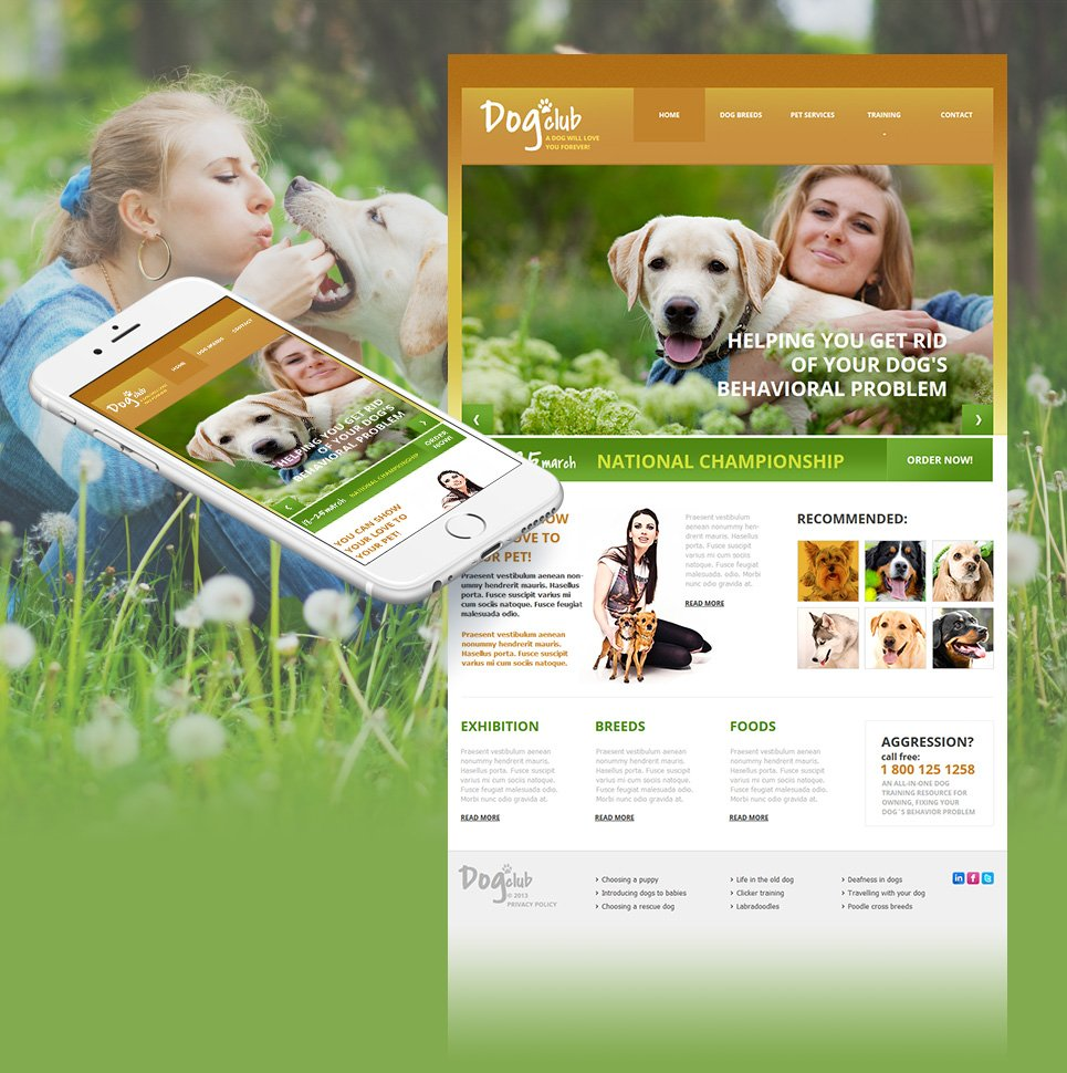 Clean Website Template for Dog Clubs - image
