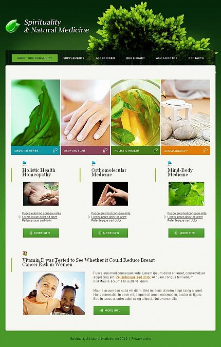 ADOBE Photoshop Template 44087 Home Page Screenshot