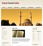 Religious Facebook HTML CMS  Template 44090