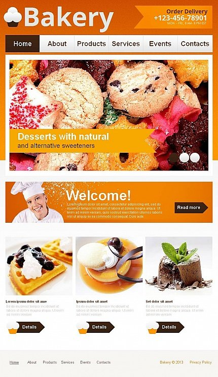 ADOBE Photoshop Template 44092 Home Page Screenshot