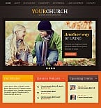 Religious Facebook HTML CMS  Template 44093