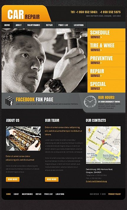 ADOBE Photoshop Template 44099 Home Page Screenshot