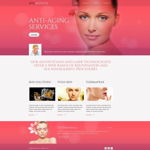 Anti Aging Services - Responsive Website Template