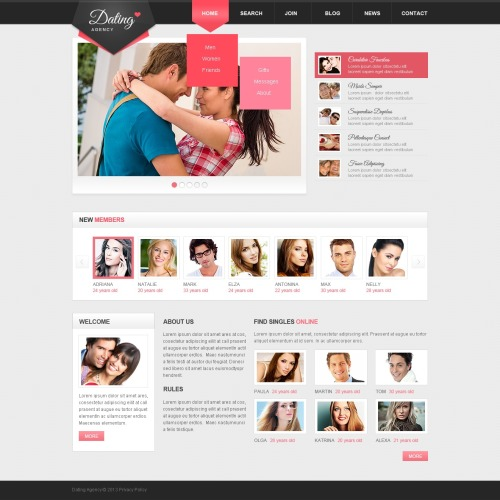 Dating - Dating Agency Template