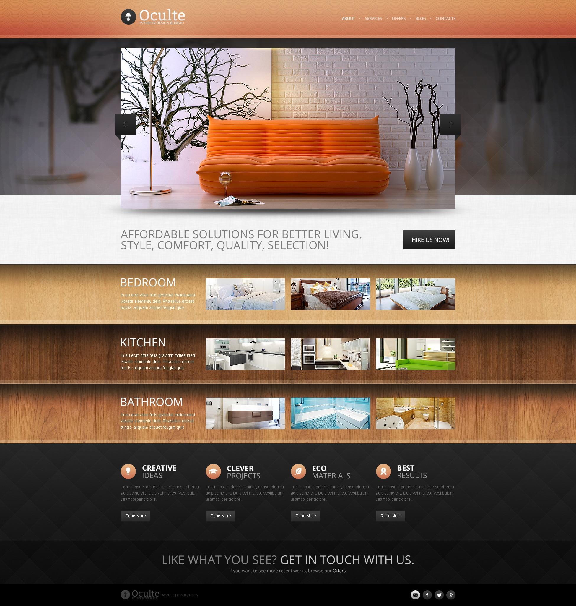Interior Design Bureau Drupal Template
