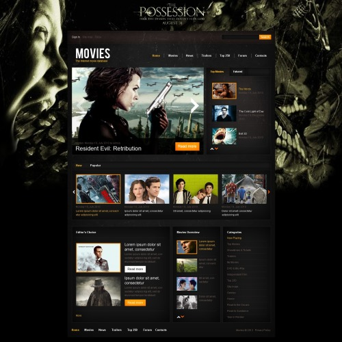 Possession - HTML5 Drupal Movie Production Template