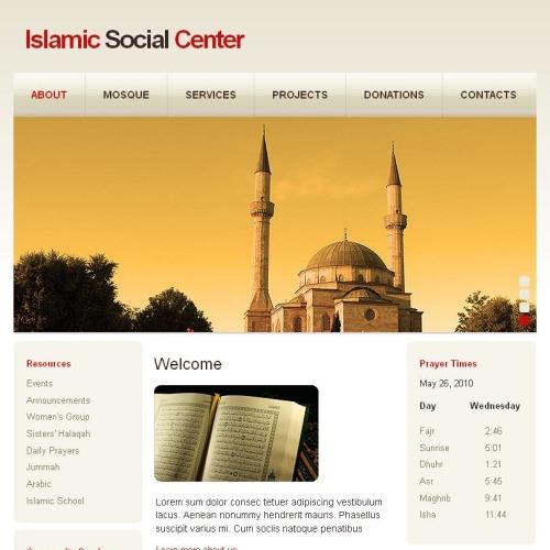 Islamic Social Center - Facebook HTML CMS Template