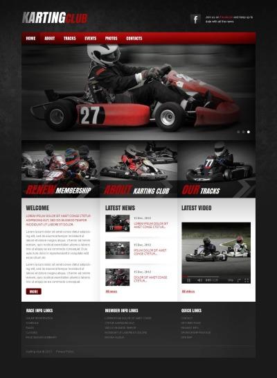 Karting Moto CMS HTML šablona