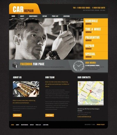 Car Repair Tema Moto CMS HTML