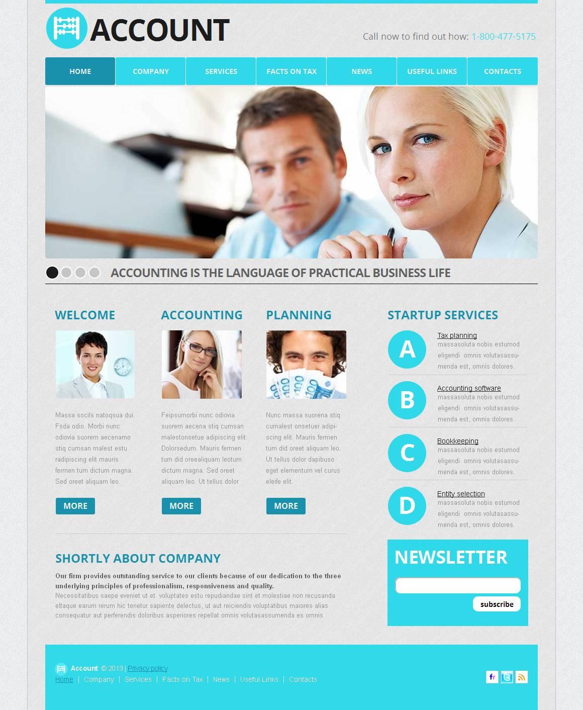 Atemberaubend Buchhaltung Website Vorlagen Zeitgenössisch - Entry ...