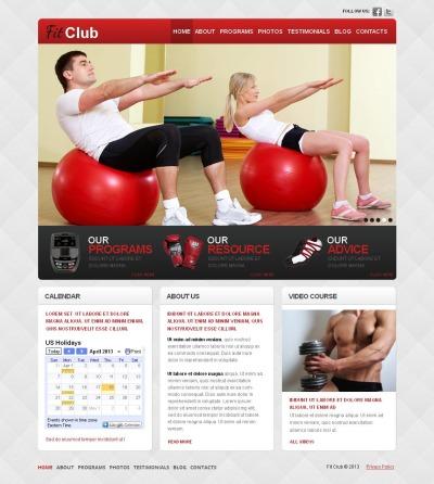 MotoCMS HTML шаблон №44084 на тему фитнес
