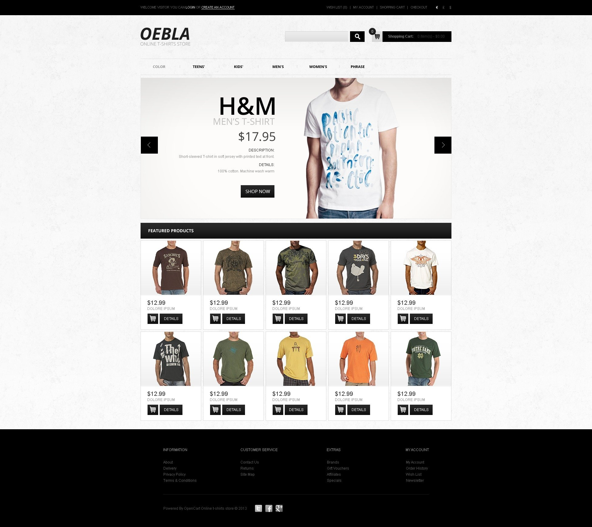 T-shirt Shop OpenCart Templates | TemplateMonster
